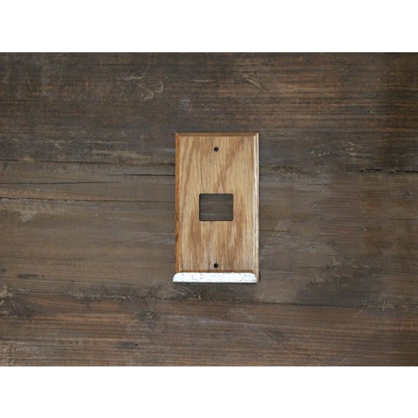 ウッド アイアントレイ  スイッチプレート 1口 wood iron tray switch plate 1口 スイッチの周りもおしゃれにするスイッチカバー a-depeche 02