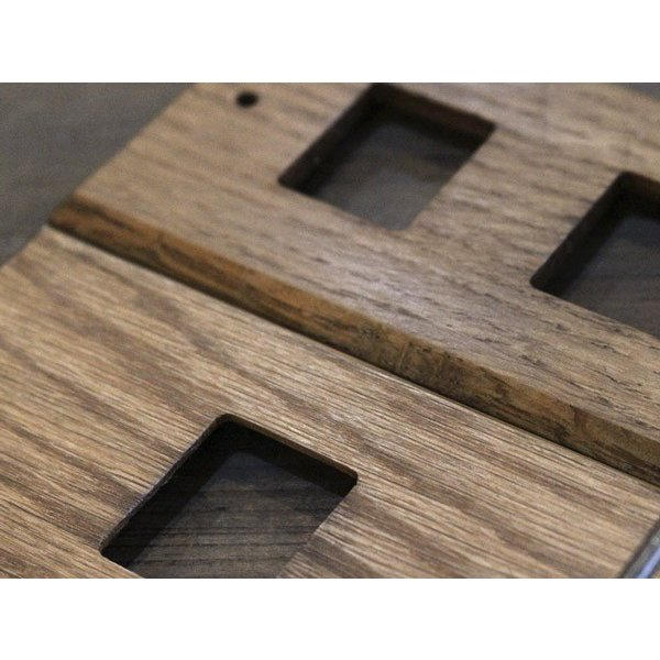 ウッド アイアントレイ  スイッチプレート 1口 wood iron tray switch plate 1口 スイッチの周りもおしゃれにするスイッチカバー a-depeche 03