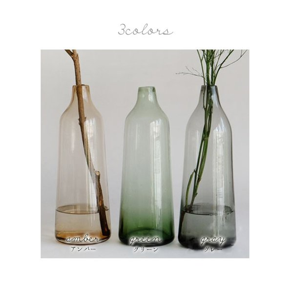 フラワーベース ガラス 『ガラス カラーリング フラワーベース ロフティ』 花瓶 リサイクルガラス 大きい 大型  シンプル カラー おしゃれ 北欧 雑貨 一輪挿し a-depeche 03