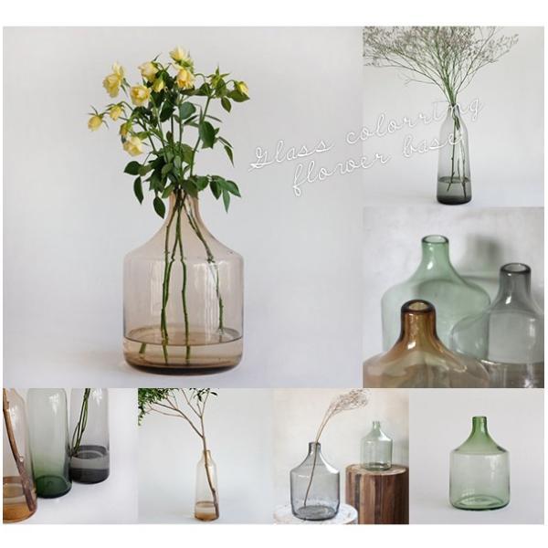 フラワーベース ガラス 『ガラス カラーリング フラワーベース ロフティ』 花瓶 リサイクルガラス 大きい 大型  シンプル カラー おしゃれ 北欧 雑貨 一輪挿し a-depeche 08