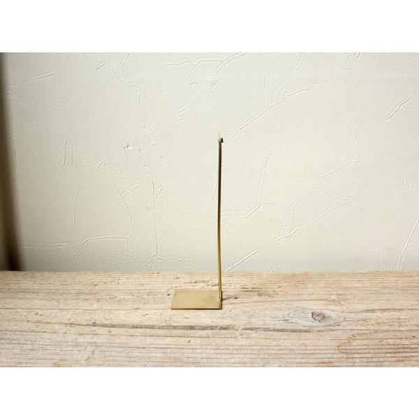 ブラス アクセサリースタンド(L)シンプルな真鍮製のピアススタンド|a-depeche|02