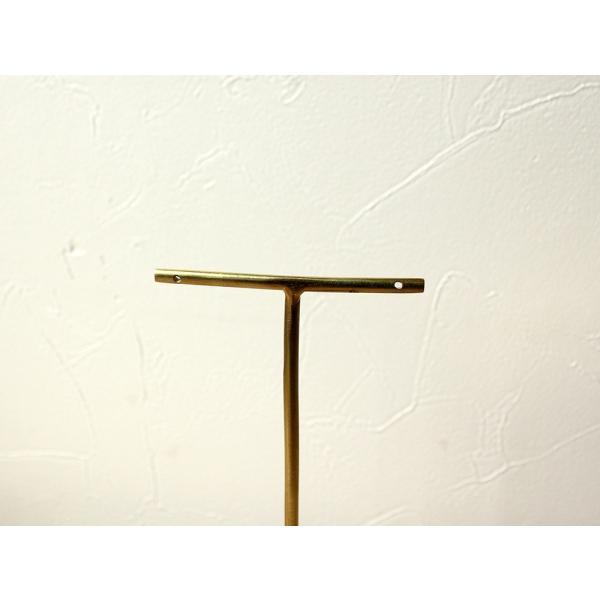 ブラス アクセサリースタンド(L)シンプルな真鍮製のピアススタンド|a-depeche|04