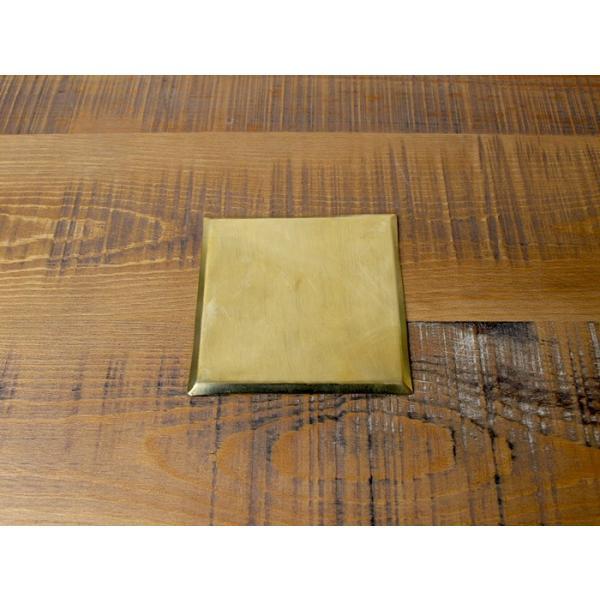BRASS コースター スクエアリム(S) ハンドメイドで作られた真鍮製のシンプルな正方形コースター|a-depeche|02