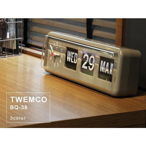 TWEMCO/トゥエンコ BQ-38 置時計としても掛け時計としても使えるカレンダー付きのクロック