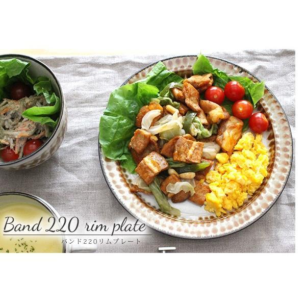 バンド 220 リムプレート 『リムプレート 陶器 レトロ パスタ皿 ギフト メイン料理皿 カフェ ワンプレート 柄 ハンドメイド 日本製 洋食器 リム皿』|a-depeche|06
