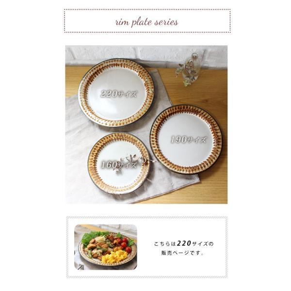 バンド 220 リムプレート 『リムプレート 陶器 レトロ パスタ皿 ギフト メイン料理皿 カフェ ワンプレート 柄 ハンドメイド 日本製 洋食器 リム皿』|a-depeche|07