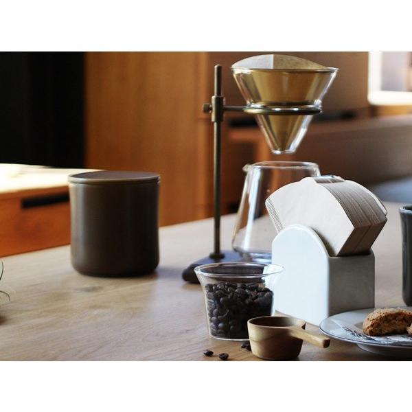 コーヒーキャニスター 湿気を防ぎ香りを長く保つ磁器のシンプルなキャニスター 磁器ならではの滑らかな質感|a-depeche|02