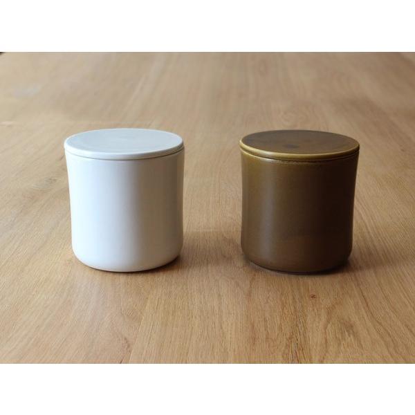 コーヒーキャニスター 湿気を防ぎ香りを長く保つ磁器のシンプルなキャニスター 磁器ならではの滑らかな質感|a-depeche|03
