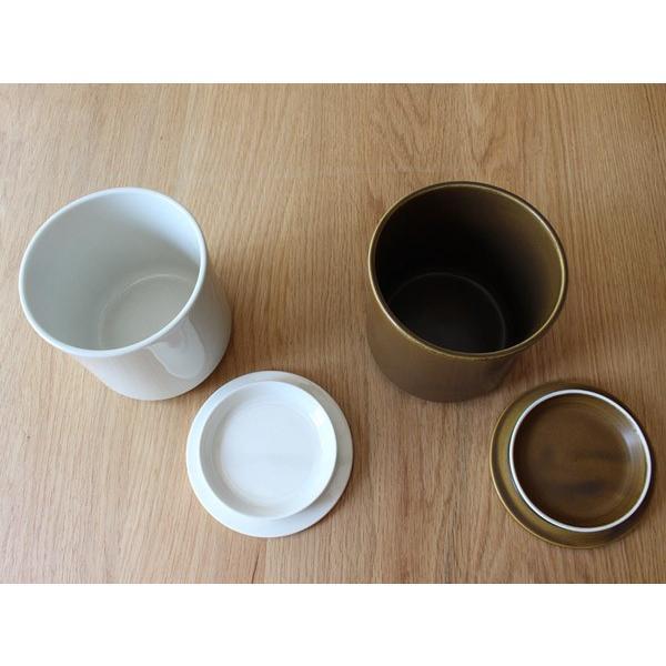 コーヒーキャニスター 湿気を防ぎ香りを長く保つ磁器のシンプルなキャニスター 磁器ならではの滑らかな質感|a-depeche|04