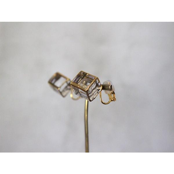 イヤリング sorte glass jewelry イヤリング SGJ-006E ガラスと金の繊細な組み合わせを楽しむイヤリング|a-depeche|03