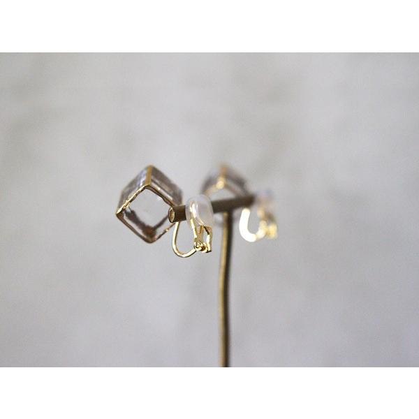 イヤリング sorte glass jewelry イヤリング SGJ-006E ガラスと金の繊細な組み合わせを楽しむイヤリング|a-depeche|04