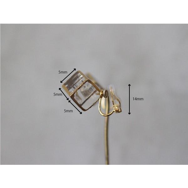 イヤリング sorte glass jewelry イヤリング SGJ-006E ガラスと金の繊細な組み合わせを楽しむイヤリング|a-depeche|05