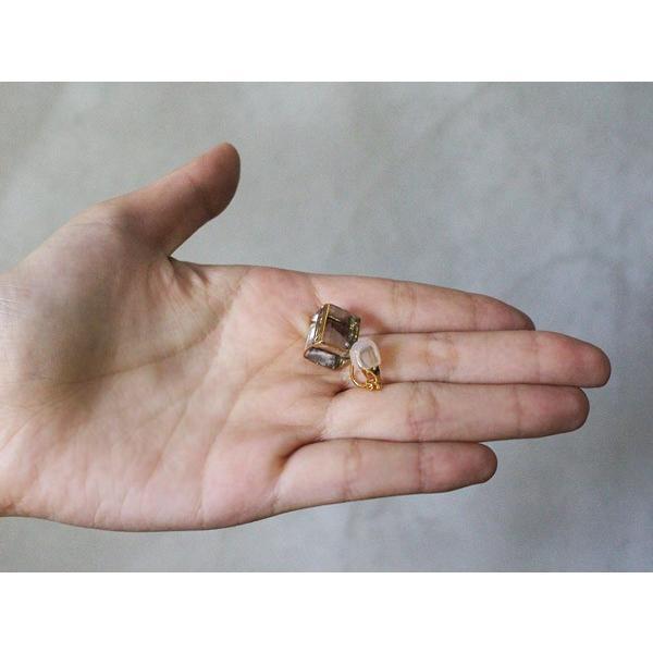 イヤリング sorte glass jewelry イヤリング SGJ-006E ガラスと金の繊細な組み合わせを楽しむイヤリング|a-depeche|06
