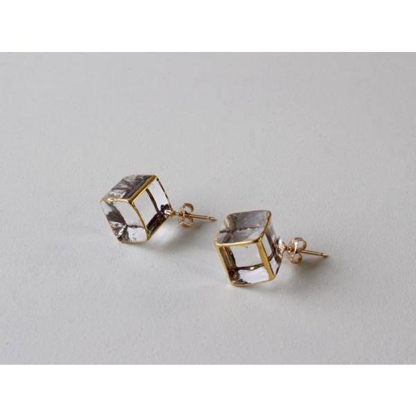 ピアス sorte glass jewelry ピアス SGJ-006P ガラスと金の繊細な組み合わせを楽しむピアス a-depeche