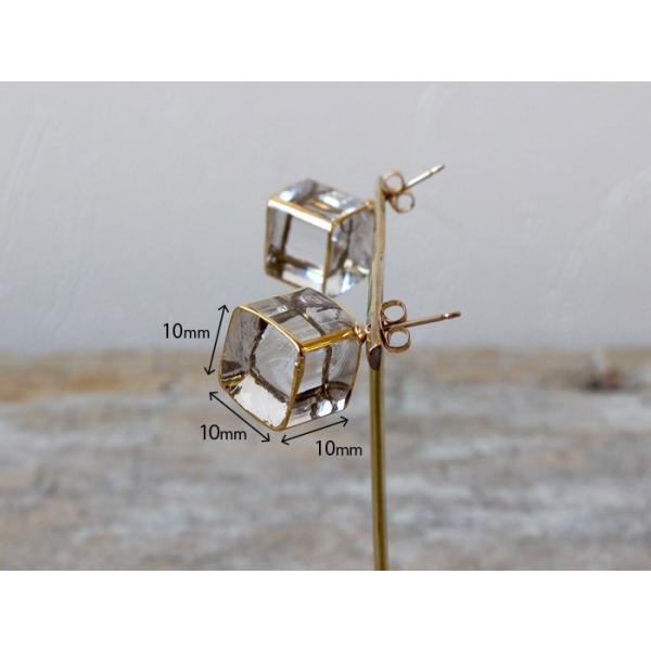 ピアス sorte glass jewelry ピアス SGJ-006P ガラスと金の繊細な組み合わせを楽しむピアス a-depeche 02
