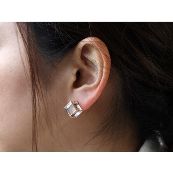 ピアス sorte glass jewelry ピアス SGJ-006P ガラスと金の繊細な組み合わせを楽しむピアス a-depeche 04