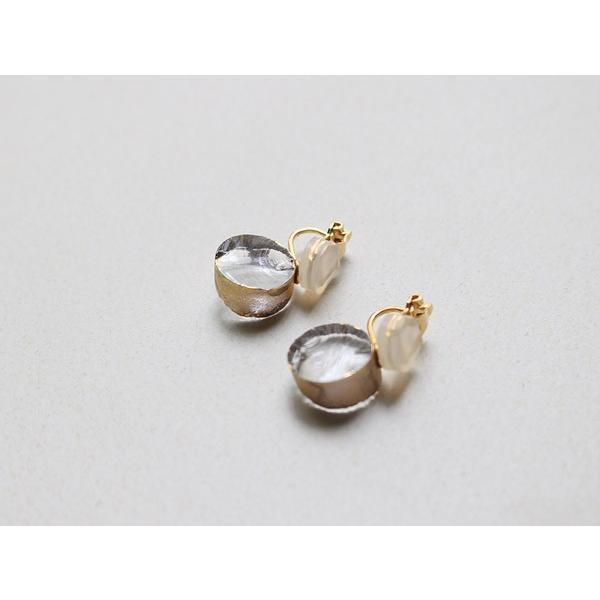 イヤリング sorte glass jewelry イヤリング SGJ-008E ガラスと金の繊細な組み合わせを楽しむイヤリング|a-depeche|02