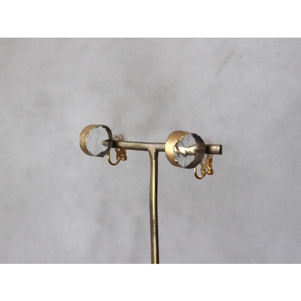 イヤリング sorte glass jewelry イヤリング SGJ-008E ガラスと金の繊細な組み合わせを楽しむイヤリング|a-depeche|03