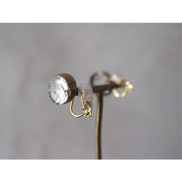 イヤリング sorte glass jewelry イヤリング SGJ-008E ガラスと金の繊細な組み合わせを楽しむイヤリング|a-depeche|04