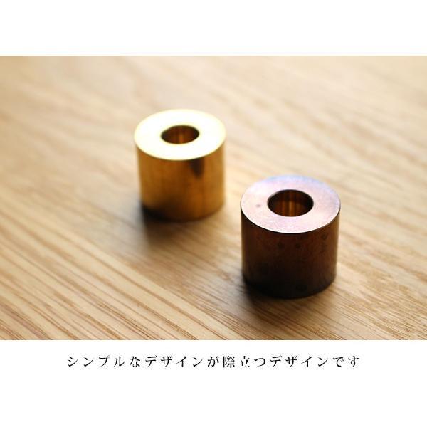 ブラス ペンスタンド (無垢) 『ペンスタンド ブラス 真鍮 無垢 デスク 整理 ペン立て 1本 丸型』|a-depeche|05