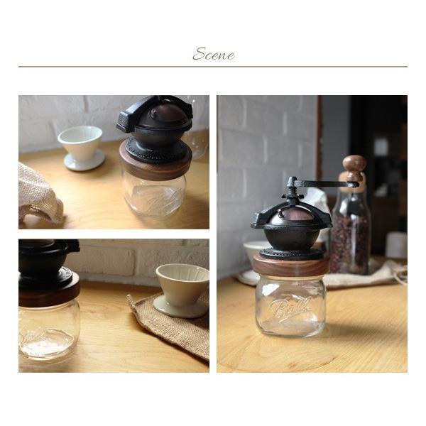 カマノ コーヒーミル メイソンジャーセット 『送料無料 コーヒーミル ハンドメイド コーヒー豆 ギフト プレゼント 贈り物 コーヒーグッズ Ball メイソンジャー』|a-depeche|03