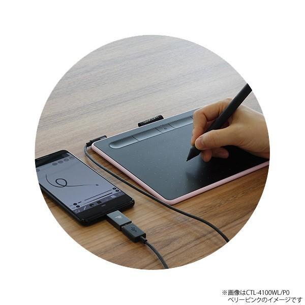 ワコム ペンタブレット Wacom Intuos Small ベーシック CTL-4100/K0 ブラック 筆圧4096レベル バッテリーレスペン|a-do|06