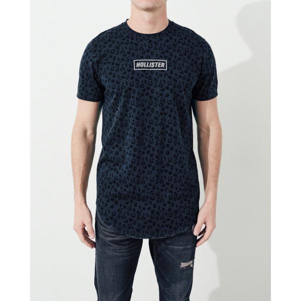 ホリスター HOLLISTER メンズ Tシャツ 半袖  クルーネック プリントロゴ グラフィックTシャツ ネイビー柄|a-freeshop|03