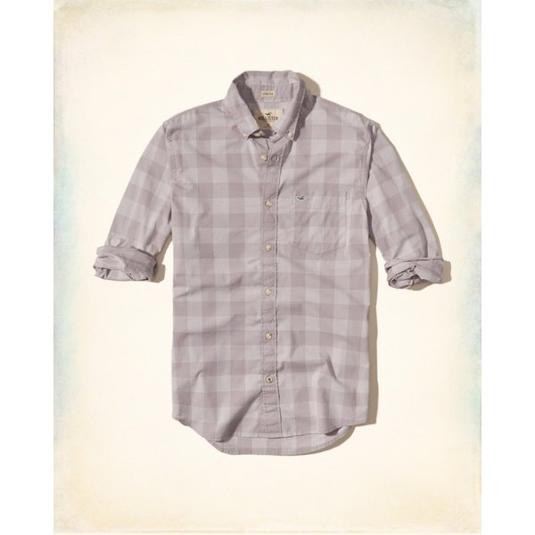 ホリスター HOLLISTER 新作 ネルシャツ メンズ 長袖 パターンドストレッチ ポプリンシャツ パープル|a-freeshop|04