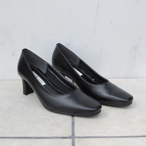 靴 レディース パンプス 黒 フォーマル  小さい 大きい 抗菌防臭 フォーマルパンプス6411