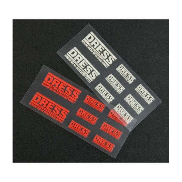 ee9228f4f3ea5 (ドレス) DRESSロゴステッカー SS 反射板タイプ 釣アイテム シール ステッカー|a-k-k ...