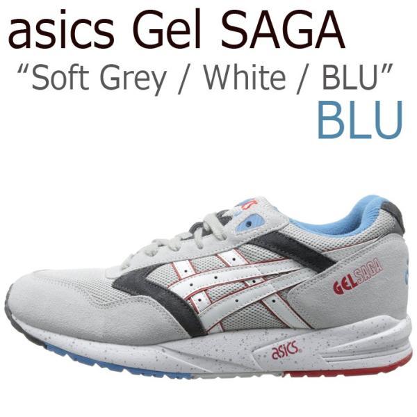 asics GEL SAGA /Soft Grey/White/BLU/ H434N-1001  日本未発売  アシックスタイガー シューズ|a-labs