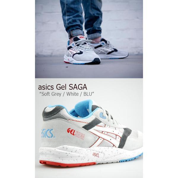 asics GEL SAGA /Soft Grey/White/BLU/ H434N-1001  日本未発売  アシックスタイガー シューズ|a-labs|02