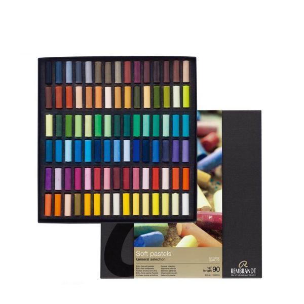 美術 画材 チョークREMBRANDT レンブラント ソフトパステル ハーフ 90色セット T300C90.5