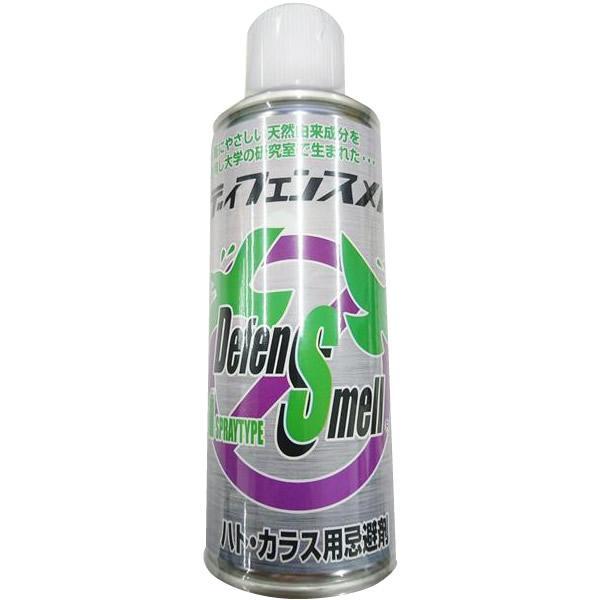 鳥用 鳩よけ 鳥よけ鳥用忌避剤 ディフェンスメル エアゾール ハト・カラス用