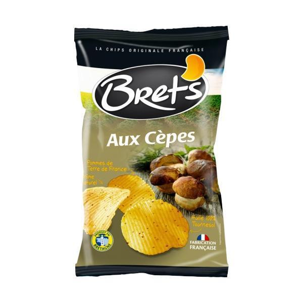 お菓子 フランス きのこBrets(ブレッツ) ポテトチップス ポルチーニ 125g×10袋 代引き不可