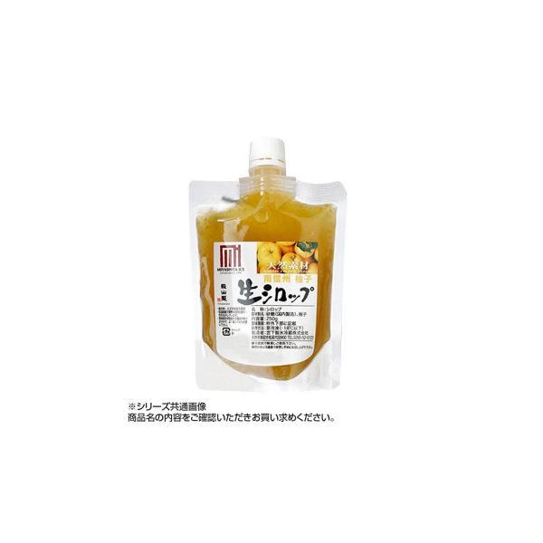 かき氷生シロップ 南信州産柚子 250g 3パックセット 代引き不可