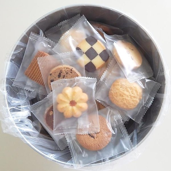 詰め合わせ ギフト くっきーバケツ缶(クッキー) 個包装 代引き不可
