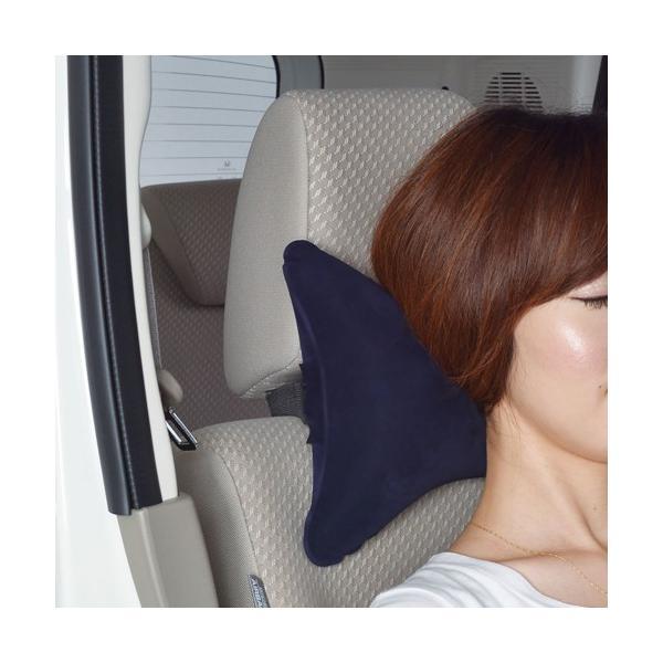 【SEIWA セイワ】車で使う枕 ネックパッドクッション/ダークブルー【Z76】 {Z76[1330]} a-max 03