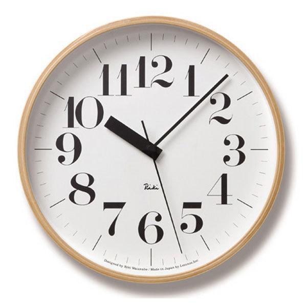 リキクロック (掛け時計 壁掛け) 電波掛時計 レムノス ステップムーブメント 「RIKI 電波掛け時計」 渡辺 力 (TL-WR-07-11)