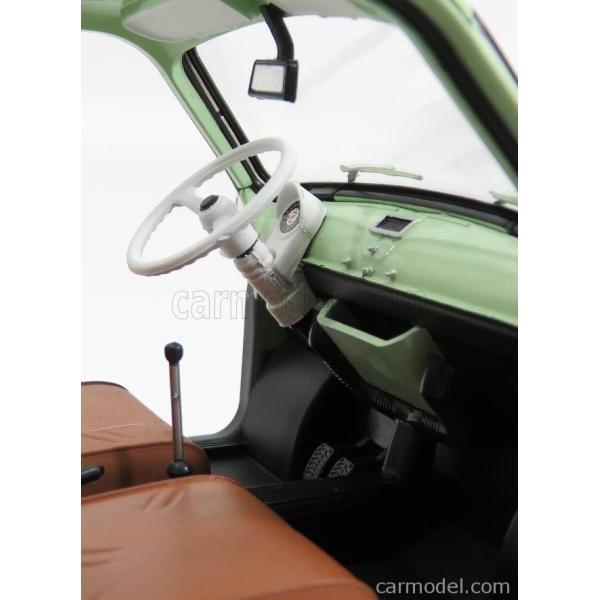 フィアット 500 ミニカー 1/18 ノレブ NOREV  FIAT 500 GIARDINIERA 1962 LIGHT GREEN 187723 a-mondo2 05