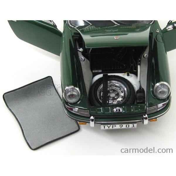ポルシェ 911 ミニカー 1/18 CMC PORSCHE 911 SPORT COUPE 1964 TYPE 901 GREEN M067B a-mondo2 09