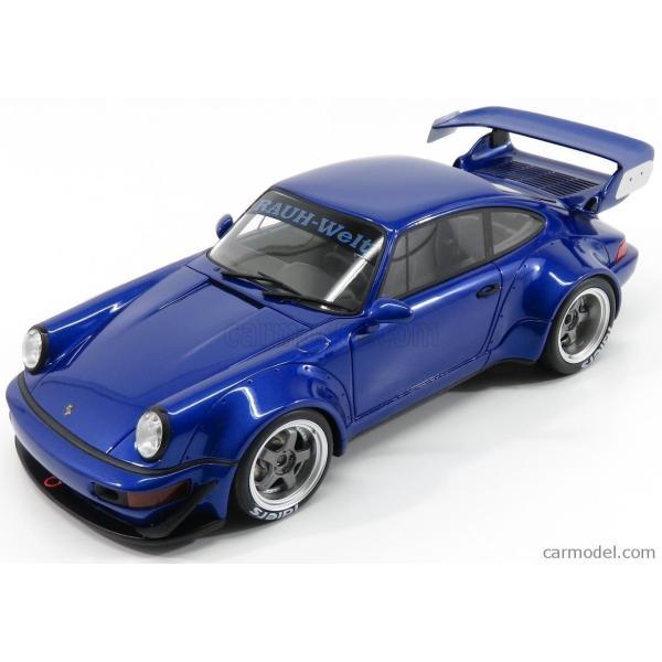 ポルシェ 911 ミニカー 1/18 GT-SPIRIT PORSCHE 911 964 RWB COUPE 1990 BLUE MET ZM100|a-mondo2