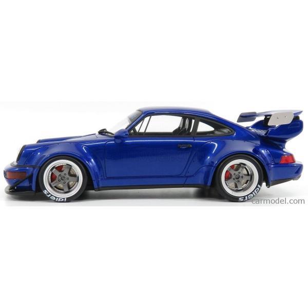 ポルシェ 911 ミニカー 1/18 GT-SPIRIT PORSCHE 911 964 RWB COUPE 1990 BLUE MET ZM100|a-mondo2|03