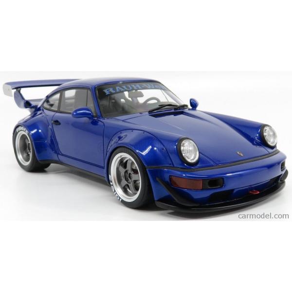 ポルシェ 911 ミニカー 1/18 GT-SPIRIT PORSCHE 911 964 RWB COUPE 1990 BLUE MET ZM100|a-mondo2|04