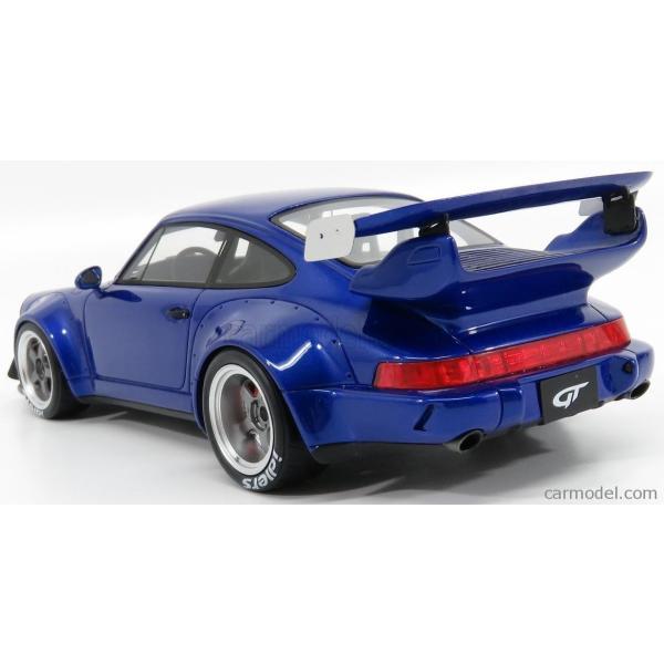 ポルシェ 911 ミニカー 1/18 GT-SPIRIT PORSCHE 911 964 RWB COUPE 1990 BLUE MET ZM100|a-mondo2|05