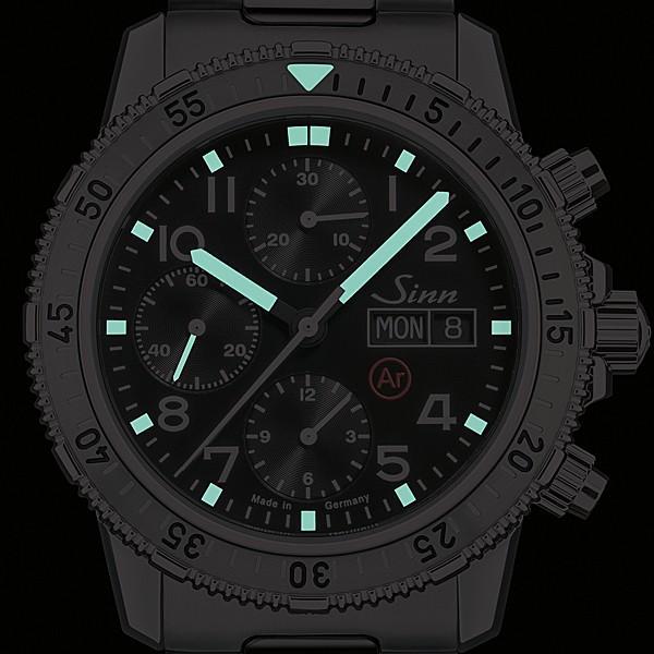ジン SINN ダイビングウォッチ 206.ST.AR 機械式(自動巻き)腕時計 カウレザーストラップ・ブラック仕様 正規品|a-spiral|04