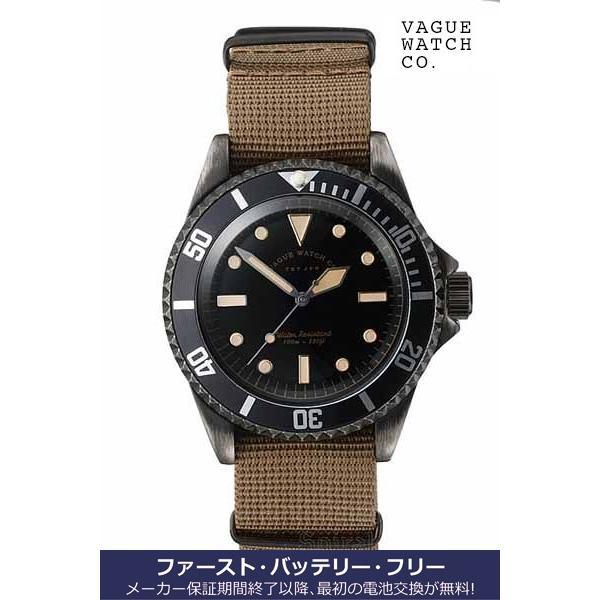ヴァーグ・ウォッチ・コー 時計 ブラックサブ BLK SUB  BS-L-001 クオーツ腕時計|a-spiral