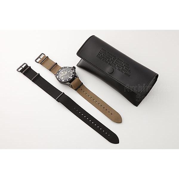 ヴァーグ・ウォッチ・コー 時計 ブラックサブ BLK SUB  BS-L-001 クオーツ腕時計|a-spiral|03