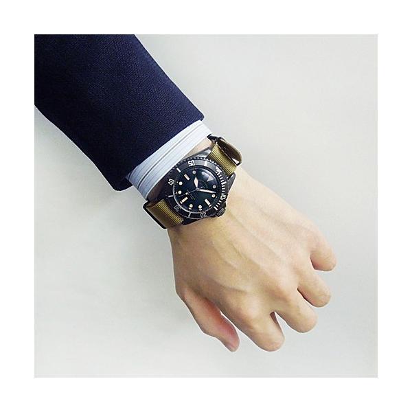 ヴァーグ・ウォッチ・コー 時計 ブラックサブ BLK SUB  BS-L-001 クオーツ腕時計|a-spiral|04