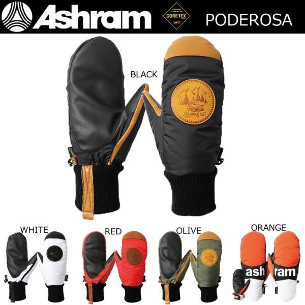 アシュラム グローブ ゴアテックス 18-19 スノーボードグローブ ASHRAM PODEROSA ポデローザ スノボーグローブ